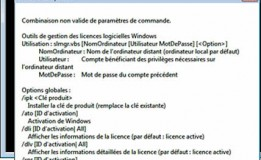 Activation Microsoft en ligne de commande (Windows 2008, Windows 7)
