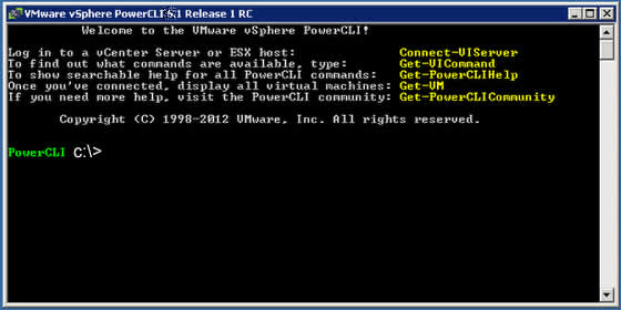 PowerCLI console