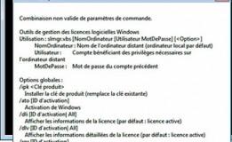 Activation Microsoft en ligne de commande (Windows 2008, Windows 7)